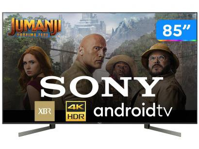 "Smart TV 4K LED 85"" Sony XBR-85X955G Android Wi-Fi - HDR Inteligência..."