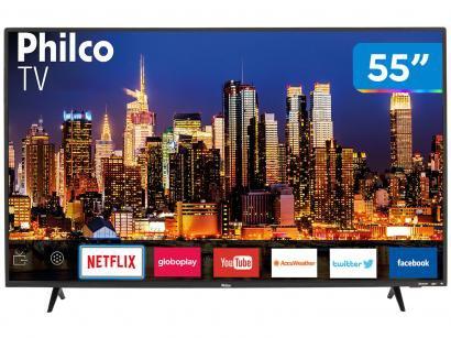 """Smart TV 4K LED 55"""" Philco PTV55F62SN Wi-Fi HDR - 3 HDMI 2 USB"""
