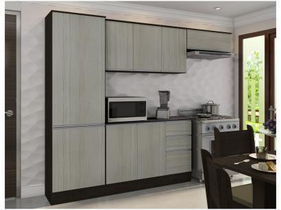 Cozinha Compacta Poliman Móveis Paris Plus J09010 - com Balcão 9 Portas 2...
