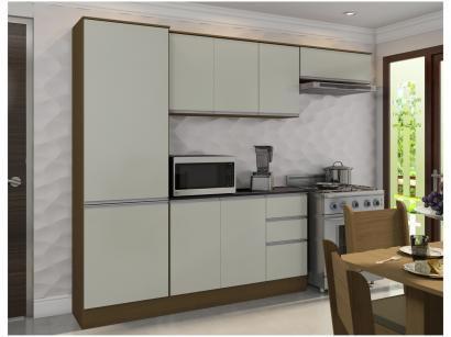 Cozinha Compacta Poliman Móveis Paris Plus J09030 - com Balcão 9 Portas 2...