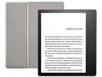 "Kindle Oasis Amazon 7"" 8GB Wi-Fi - Luz Embutida e à Prova de Água Preto"