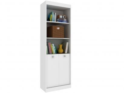 Estante para Livros 2 Portas 3 Prateleiras - 3 Nichos Hecol Móveis Home Office...