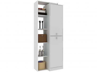 Estante para Livros 2 Portas 3 Prateleiras - 5 Nichos Hecol Móveis Home Office...