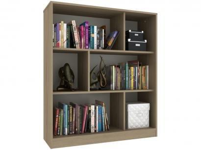 Estante para Livros 6 Nichos Hecol Móveis - Home Office HO-2923