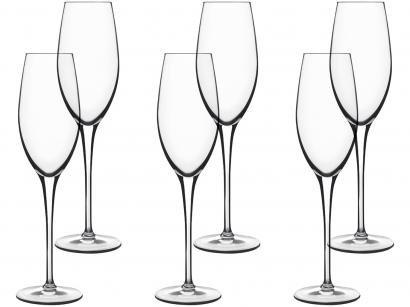 Jogo de Taças para Champagne Vidro 210ml - 6 Peças Luigi Bormioli Royale