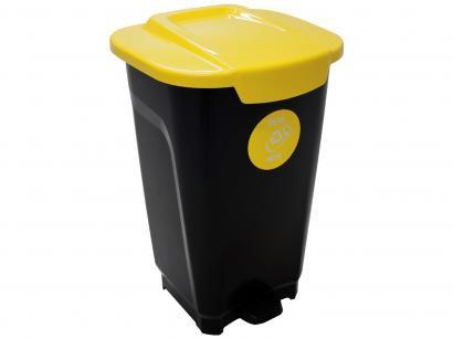 Lixeira Reciclável de Plástico com Pedal 50L - Tramontina Empresarial T-Force