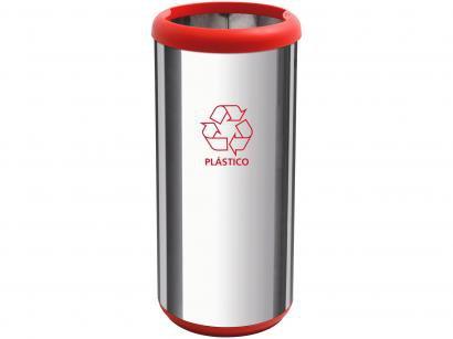 Lixeira Reciclável Inox 40L Tramontina - Cápsula Selecta Plus
