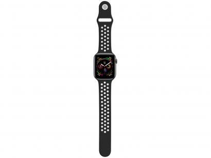 Pulseira Apple Watch Sport Geonav 42/44mm - Silicone Cinza e Preto