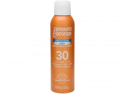 Protetor Solar Corporal Cenoura e Bronze - FPS 30 Aerossol Spray Contínuo 200ml