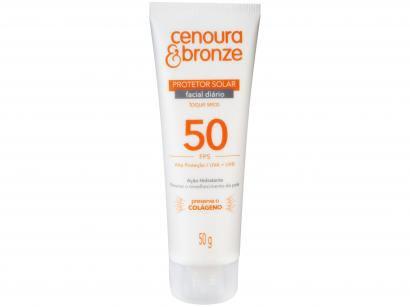 Protetor Solar Facial Cenoura e Bronze - FPS 50 50g