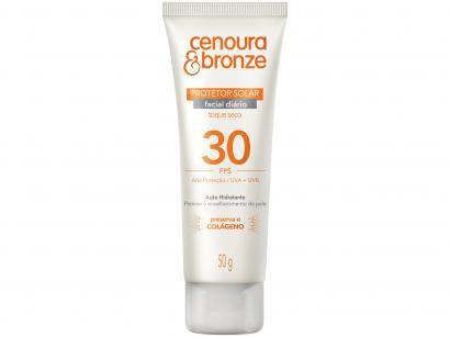 Protetor Solar Facial Cenoura e Bronze - FPS 30 50g