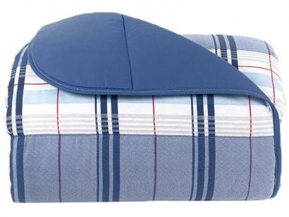 Edredom Casal Santista 100% Algodão Royal - Madras Azul