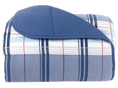 Edredom Solteiro Santista 100% Algodão Royal - Madras Azul