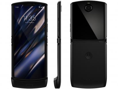 "Smartphone Motorola Razr 128GB Black 4G - Snapdragon 710 6GB RAM 6,2"" Câm. 16MP + Selfie 5MP"