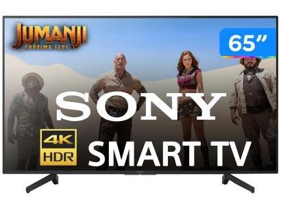 "Smart 4K LED 65"" Sony KD-65X705G Wi-Fi - HDR Conversor Digital 3 HDMI 3 USB"