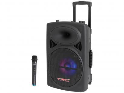 Caixa de Som Bluetooth TRC 436 Ativa Amplificada - TRC 436 350W com Microfone USB