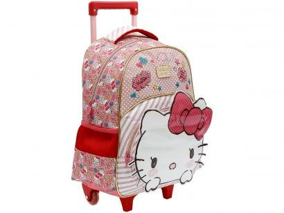 Mochila Infantil Escolar Feminina Hello Kitty - de Rodinha Tam. G Xeryus Rosa