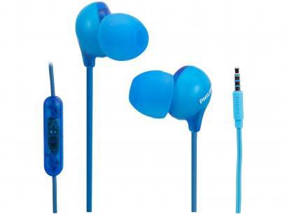 Fone de Ouvido Philips Upbeat SHE2405BL/00 - Intra-auricular com Microfone Azul