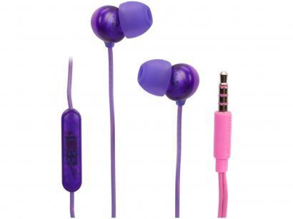 Fone de Ouvido Philips Upbeat SHE2405PP/00 - Intra-auricular com Microfone Rosa e Roxo