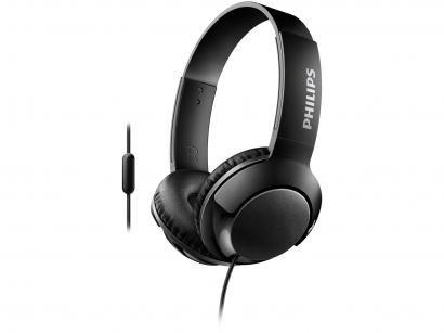 Headphone Phillips Bass+ SHL3075BK/00 - com Microfone Preto