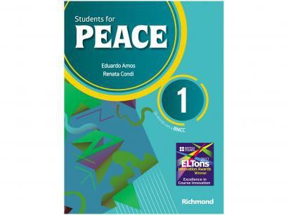 Livro Students for Peace 1 Inglês 6º Ano - Eduardo Amos e Renata Condi