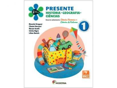 Livro Presente História Geografia Ciências - Ricardo Dreguer Cássia Marconi Neuza Guelli