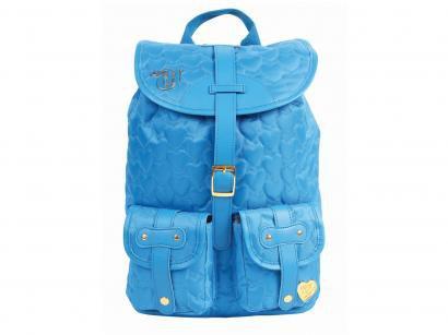 Mochila Juvenil Escolar Feminina - Tam. G DMW Capricho Love Azul