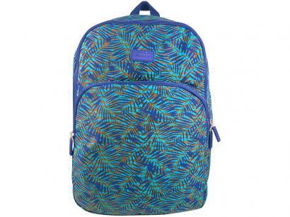 Mochila Juvenil Escolar Feminino - Yins YS41009A Azul