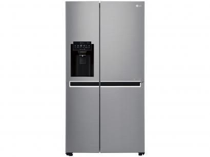 Geladeira/Refrigerador Smart LG Side by Side - Inverter 601L com LG ThinQ GC-L247SLUV Inox