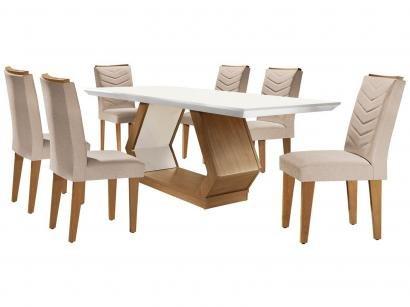 Mesa de Jantar 6 Cadeiras Retangular Rufato - Alvorada Londrina