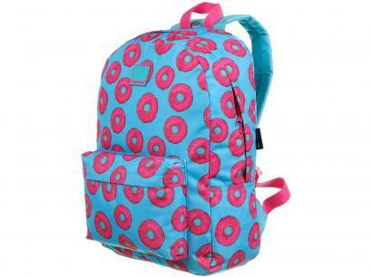 Mochila Juvenil Escolar Feminina Donuts - Tam. G Dermiwil Container Azul