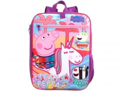 Mochila Infantil Escolar Feminina Peppa Pig - Tam. G Dermiwil Plus Rosa