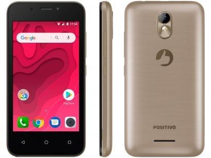 Smartphone Positivo Twist Mini 16GB Dourado 3G - Quad Core 512MB Câm. 5MP + Câm. Selfie 5MP