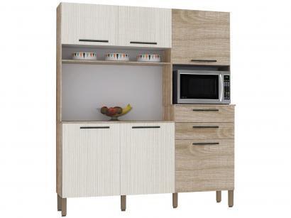 Cozinha Compacta Kits Paraná Montesa - Nicho para Micro-ondas 6 Portas 2 Gavetas