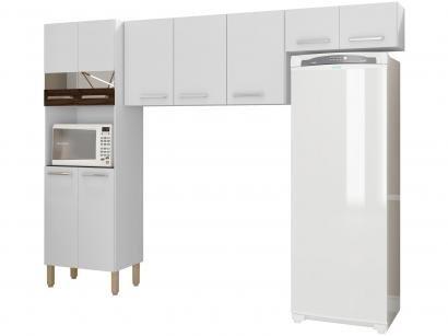 Cozinha Compacta Kits Paraná Versalhes - Nicho para Micro-ondas 9 Portas