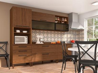 Cozinha Completa Kits Paraná Viv Concept - com Balcão 8 Portas 4 Gavetas
