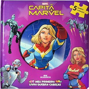 Capitã Marvel  Meu Primeiro Livro Quebra-Cabeças -