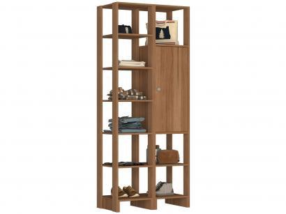 Closet Modulado 9 Prateleiras 1 Porta - Nova Mobile Yes EY104-107.057