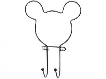 Cabideiro de Parede Preto 2 Ganchos Arthi Disney - Mickey Mouse