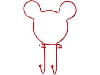 Cabideiro de Parede Vermelho 2 Ganchos Arthi - Mickey Mouse