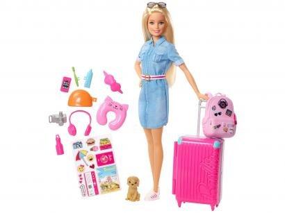 Boneca Barbie Viajeira Explorar e Descobrir - com Acessórios Mattel