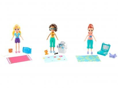 Boneca Polly Pocket Festa do Pijama com Acessórios - Mattel GMF82