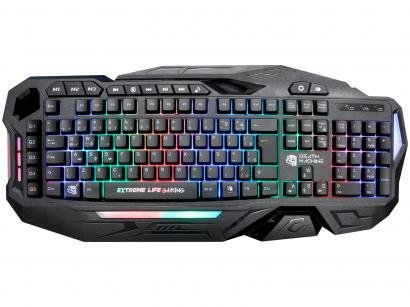 Teclado Gamer ELG Death Machine USB ABNT - Preto