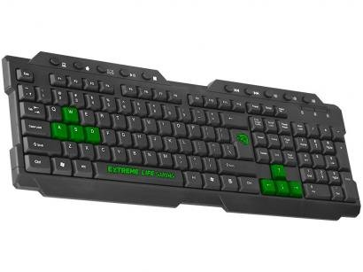 Teclado Gamer ELG Dragon War USB ABNT2 - Preto