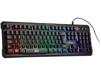 Teclado Gamer ELG Battle USB ABNT - Preto
