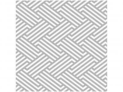 Papel de Parede Cinza Geométrico Bobinex Uau! - 52cmx1000cm