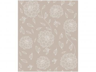 Papel de Parede Bege Floral Bobinex Uau! - 52cmx1000cm