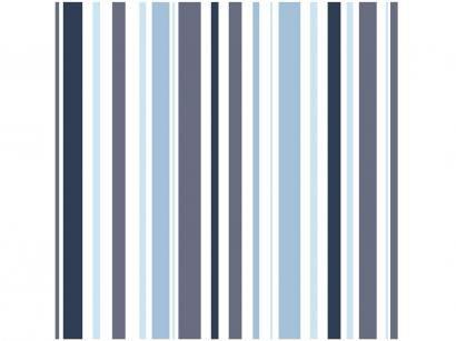 Papel de Parede Azul Listras - Bobinex Uau! 52cmx1000cm