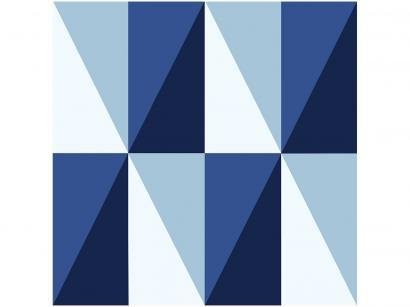 Adesivo Decorativo Azul Geométrico - Bobinex Uau! 45cmx200cm