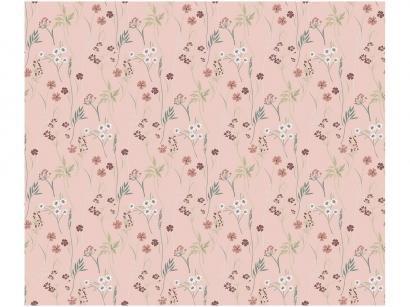 Adesivo Decorativo para Quarto Infantil - Rosa Flores Bobinex Uau! 45cmx200cm